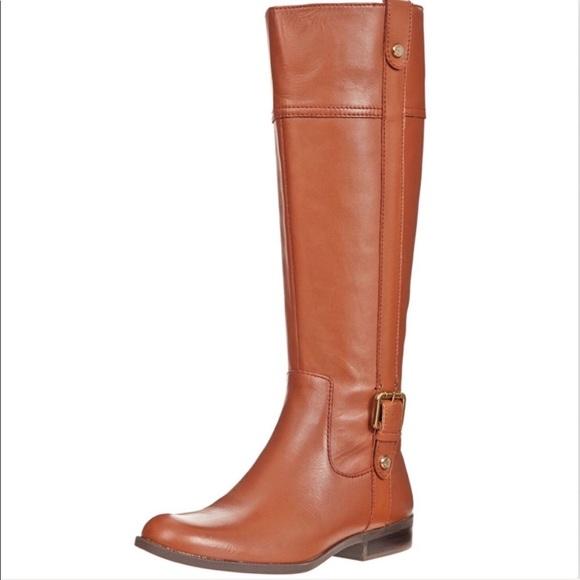 18b24bca2cc Anne Klein Shoes - Anne Klein leather Ciji iflex riding boot cognac